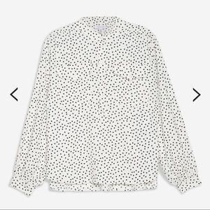 🇬🇧 Topshop white shirt with black hearts